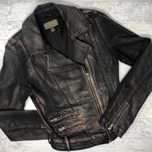 Guess Metallic Moto Denim Jacket